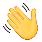 Waving Hand Sign Emoji (Apple/iOS Version)