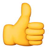 Thumbs Up Sign Emoji (Apple/iOS Version)