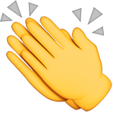 Clapping Hands Sign Emoji (Apple/iOS Version)