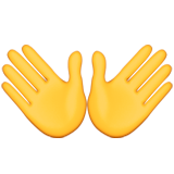 Open Hands Sign Emoji (Apple/iOS Version)