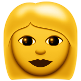 Woman Emoji (Apple/iOS Version)