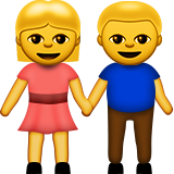 Man And Woman Holding Hands Emoji (Apple/iOS Version)