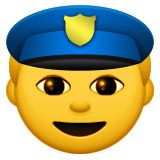 Police Officer Emoji (Apple/iOS Version)