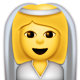 Bride With Veil Emoji (Apple/iOS Version)