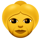 Older Woman Emoji (Apple/iOS Version)