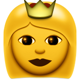 Princess Emoji (Apple/iOS Version)