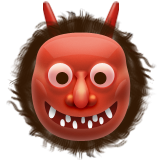 Japanese Ogre Emoji (Apple/iOS Version)