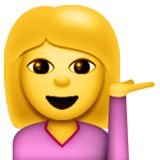 Information Desk Person Emoji (Apple/iOS Version)