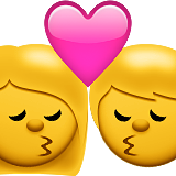 Kiss Emoji (Apple/iOS Version)