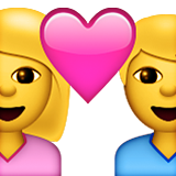 Couple With Heart Emoji (Apple/iOS Version)
