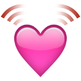 Beating Heart Emoji (Apple/iOS Version)
