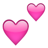 Two Hearts Emoji (Apple/iOS Version)