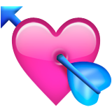 Heart With Arrow Emoji (Apple/iOS Version)