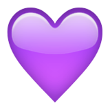 Purple Heart Emoji (Apple/iOS Version)
