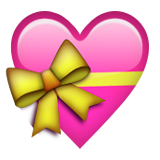 Heart With Ribbon Emoji (Apple/iOS Version)