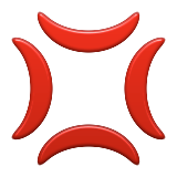 Anger Symbol Emoji (Apple/iOS Version)