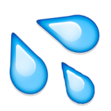 Splashing Sweat Symbol Emoji (Apple/iOS Version)