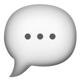 Speech Balloon Emoji (Apple/iOS Version)