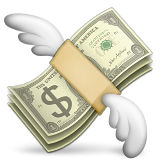 Money With Wings Emoji Apple Ios Version