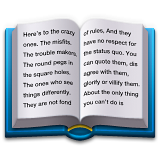 Open Book Emoji (Apple/iOS Version)