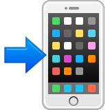 Mobile Phone With Rightwards Arrow At Left Emoji (Apple/iOS Version)