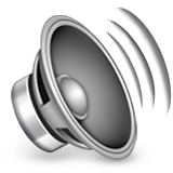 Speaker With Three Sound Waves Emoji (Apple/iOS Version)