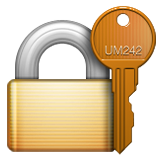 Closed Lock With Key Emoji (Apple/iOS Version)