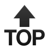 Top With Upwards Arrow Above Emoji (Apple/iOS Version)