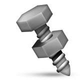 Nut And Bolt Emoji (Apple/iOS Version)