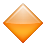Large Orange Diamond Emoji (Apple/iOS Version)