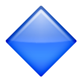Large Blue Diamond Emoji (Apple/iOS Version)