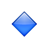 Small Blue Diamond Emoji (Apple/iOS Version)