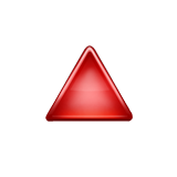 Up-pointing Red Triangle Emoji (Apple/iOS Version)
