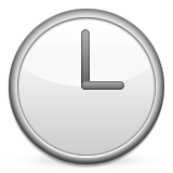 Clock Face Three Oclock Emoji (Apple/iOS Version)