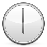 Clock Face Six Oclock Emoji (Apple/iOS Version)