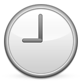 Clock Face Nine Oclock Emoji (Apple/iOS Version)