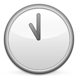 Clock Face Eleven Oclock Emoji (Apple/iOS Version)