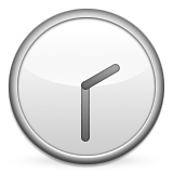 Clock Face Two-thirty Emoji (Apple/iOS Version)
