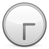 Clock Face Three-thirty Emoji (Apple/iOS Version)