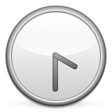 Clock Face Four-thirty Emoji (Apple/iOS Version)
