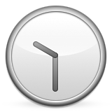 Clock Face Ten-thirty Emoji (Apple/iOS Version)