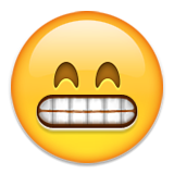 Grinning Face With Smiling Eyes Emoji (Apple/iOS Version)