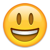 Smiling Face With Open Mouth Emoji (Apple/iOS Version)