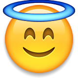 Smiling Face With Halo Emoji (Apple/iOS Version)