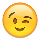 Winking Face Emoji (Apple/iOS Version)