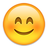 Smiling Face With Smiling Eyes Emoji (Apple/iOS Version)