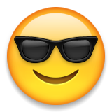 Smiling Face With Sunglasses Emoji (Apple/iOS Version)