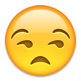 Unamused Face Emoji (Apple/iOS Version)