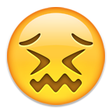 Confounded Face Emoji (Apple/iOS Version)