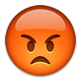 Pouting Face Emoji (Apple/iOS Version)